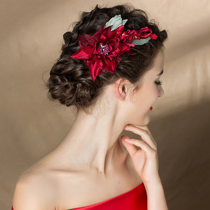 Christmas holiday wedding hairpiece