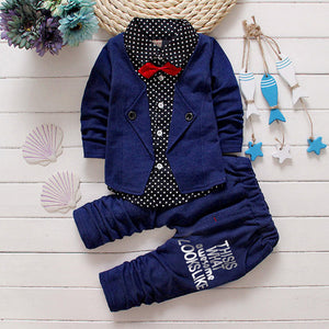 Gray Ring Bearer Comfy Little Boy Suit for Wedding 6M - 4T