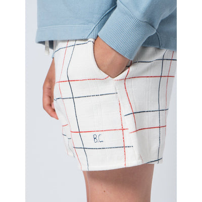 Lines White Shorts - Kids Edition