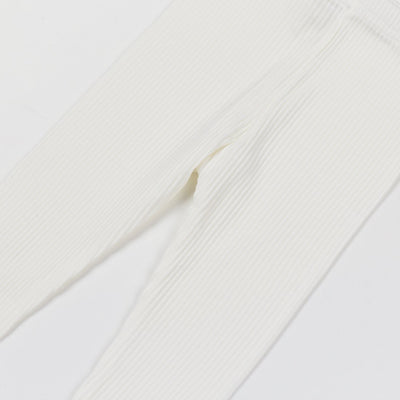 Ivory Cotton Leggings - Kids Edition