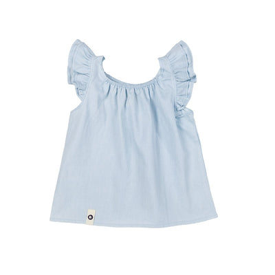 Light Denim Cotton Wings Blouse - Kids Edition
