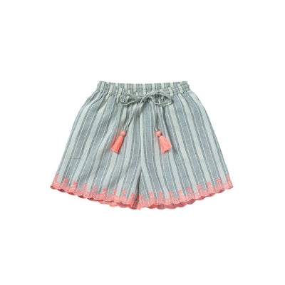 Ecru Black Clyde Short - Kids Edition
