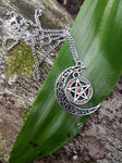 Red Pentagram Necklace