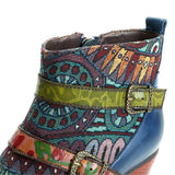 Retro Bohemian Double Buckle Ankle Boots