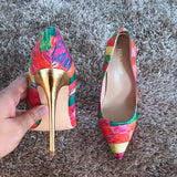 Exquisite Rainbow Heels