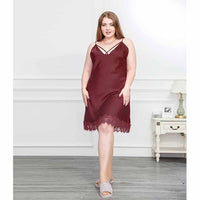 Plus Size Nightdress Lace Sleepwear