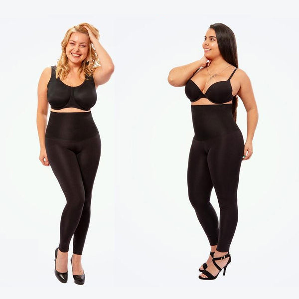 Seamless Plus Size High Waist Shaping Black Leggings