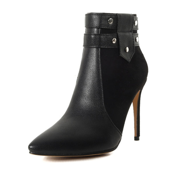 Quality Thin High Heels Winter Ankle Boots