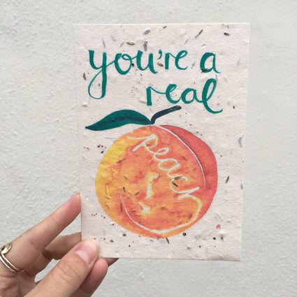 Plantable Greetings Card- Peach - Acala