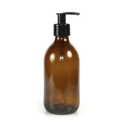 250ml Amber Glass Pump Bottle - Acala