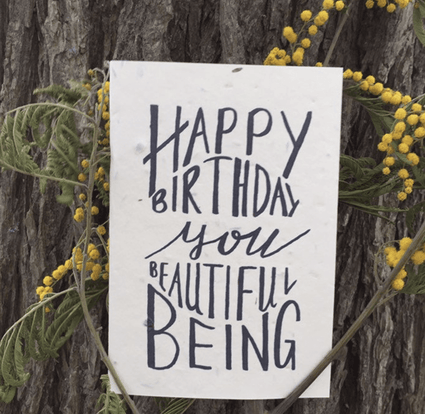Plantable Birthday Card- Beautiful Being - Acala