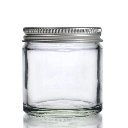 Clear Glass Ointment Jar with Aluminium Cap - Acala