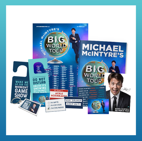 SIGNED Michael McIntyre Big World Bundle!