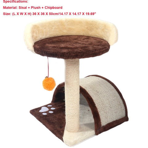 Cat Luxury Furniture 36-80 Inches Pet Cat Tree Tower Climbing Shelf Cat Apartment Game Habitat Cat Tower Condo Toy