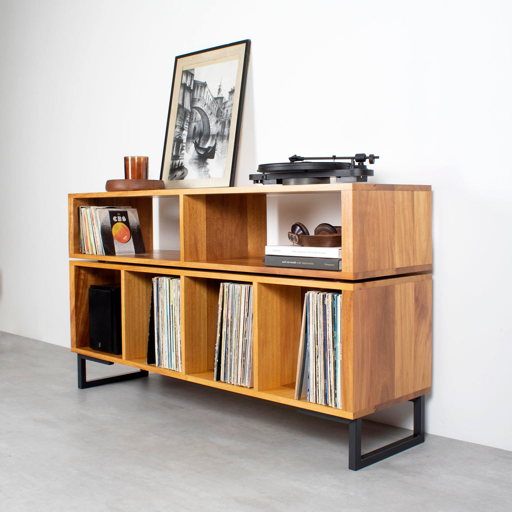 large turntable stand in iroko