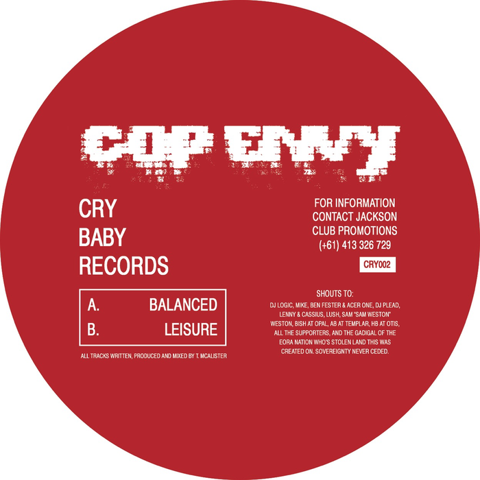 "Cop Envy - Balanced / Leisure (12"")"