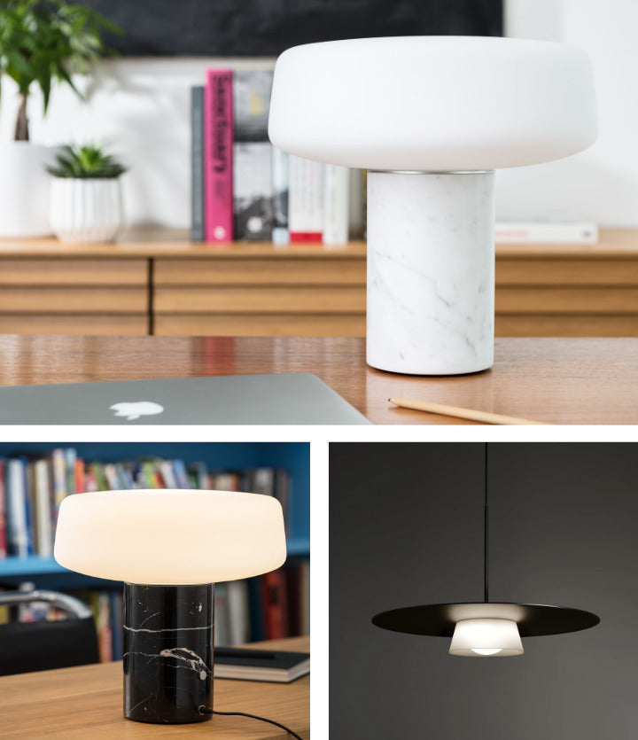 terence woodgate solid table light & sum pendant light