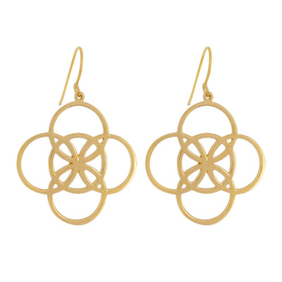 statement celtic earrings meaning serenity from irish jewelry