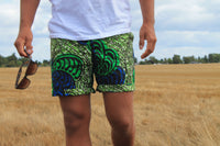 Shorts - Green Butterfly