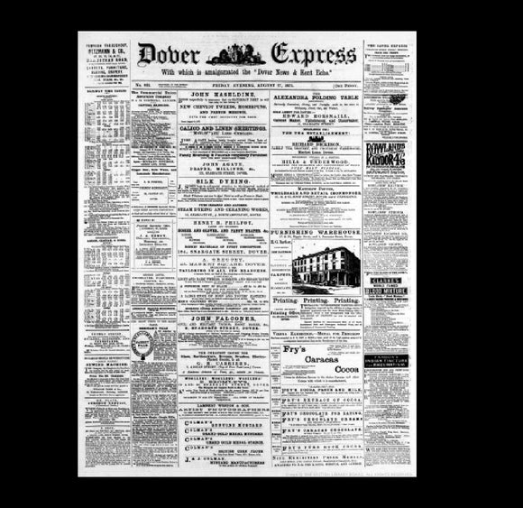 Dover Express - Capt. Webb Swims the Channel - 1875