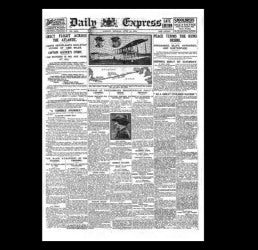 Daily Express - Alcock & Brown fly the Atlantic - 1919