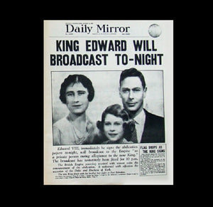 Daily Mirror - abdication of Edward VII - 1936