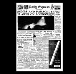 Daily Express - London Blitz - 26th August 1940