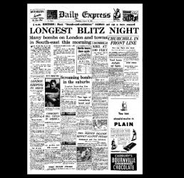 Daily Express - London Blitz - 29th August 1940