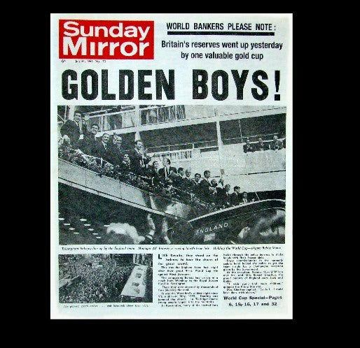 Sunday Mirror - England wins the World Cup - 1966
