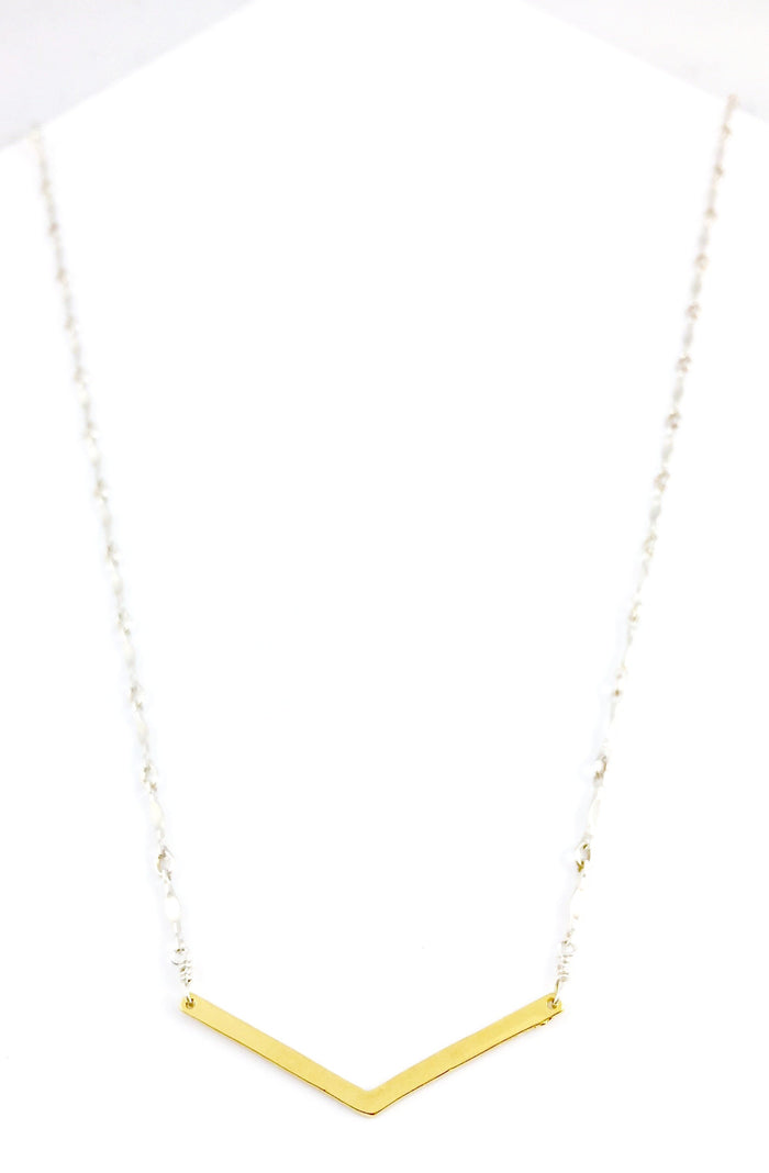 Chevron Bar on Dapped Necklace