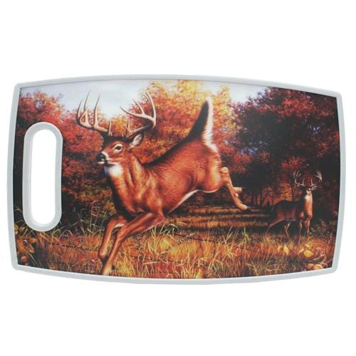 "Rivers Edge Products 15"" X 9"" Cutting Board Rect-deer"