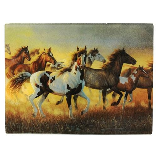 Rivers Edge Products Running Horses Cutting Board