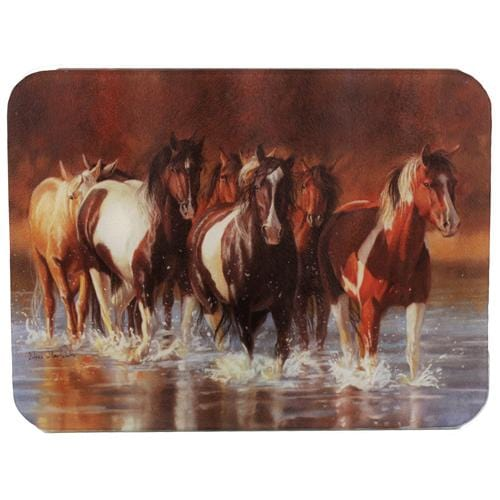 Rivers Edge Products Horse Cutting Board- Rush Hour