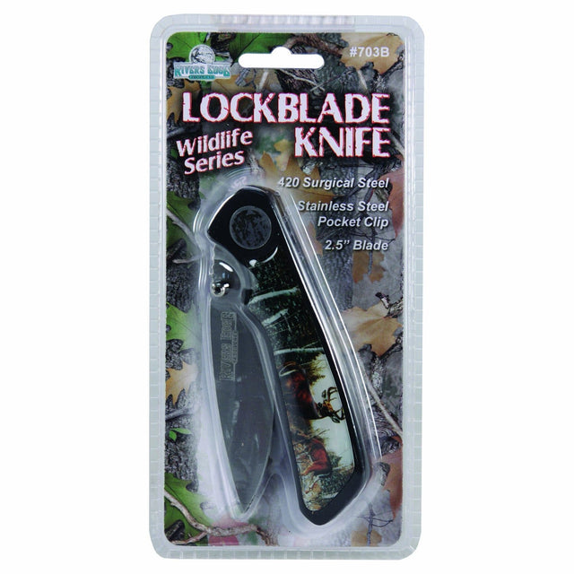 Rivers Edge Products Blister Packed Cb Camo Deer Knife