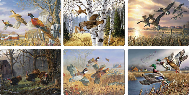 Rivers Edge Products Hunting Birds Glass Cutting Board, Assortment (12 pcs)