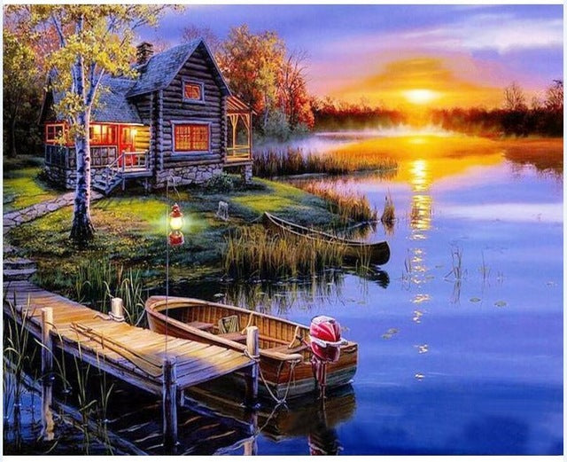 Beautiful View of Sunset and River - iHeart Paint By Numbers