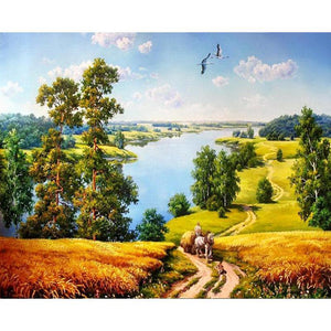 Rural Landscape - iHeart DIY Painting By Numbers
