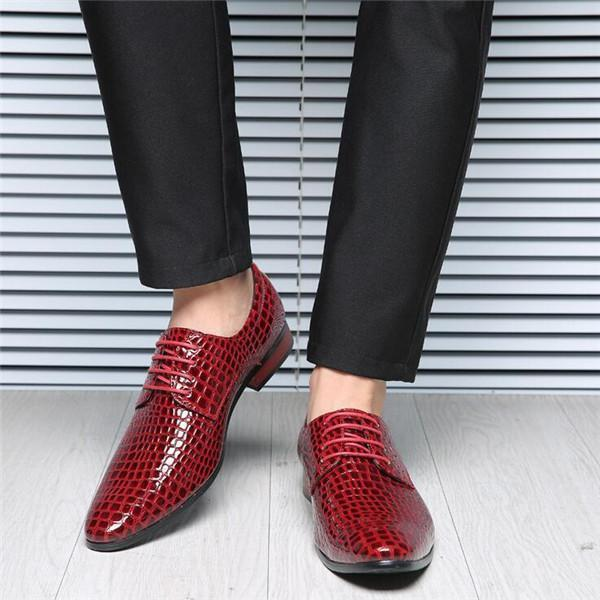 comfortable snake skin leather high heels fashion oxford shoes for men