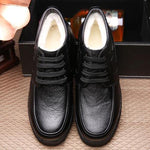 Genuine Leather Warm Plush Lining Casual High Top Shoes