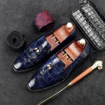 Fashion Men Tassel Blue Wedding Loafers Shoes