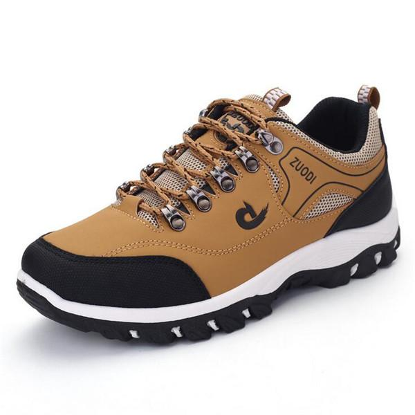 Men Hiking Metal Buckle Shock-absorbing Slip Resistant Outdoor Sneakers