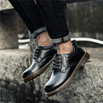 Large Size Men Nubuck Leather British Style Non-Slip Lace Up Soft Boots
