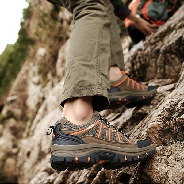 Men Leather Outdoor Hiking Casual Shoes