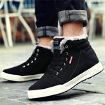 Men Lace Up Plush Lining Suede Casual Boots