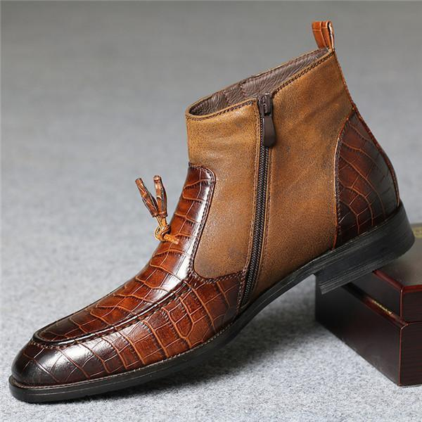 Men's Plus Thick Casual Leather Boots Martin Boots