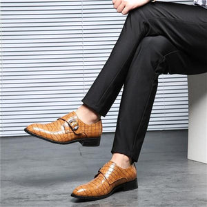 Genuine Leather High Quality Business  Pointed Toe Classic Wedding Men Shoes
