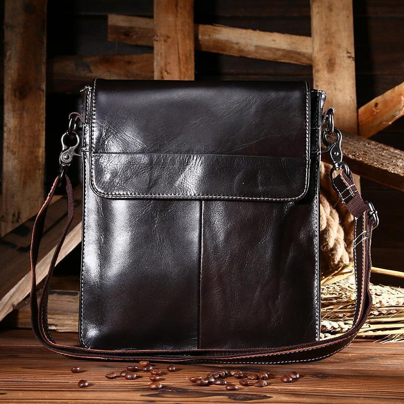 Men's Leather Multi-Function Messenger Bags