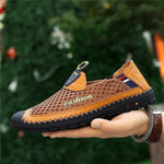Men Stitching Anti-collision Mesh Splicing Breathable Outdoor Loafers