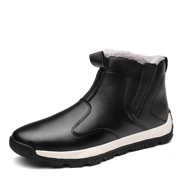 Men Warm Fur Lining Non-slip Casual Ankle Snow Boots