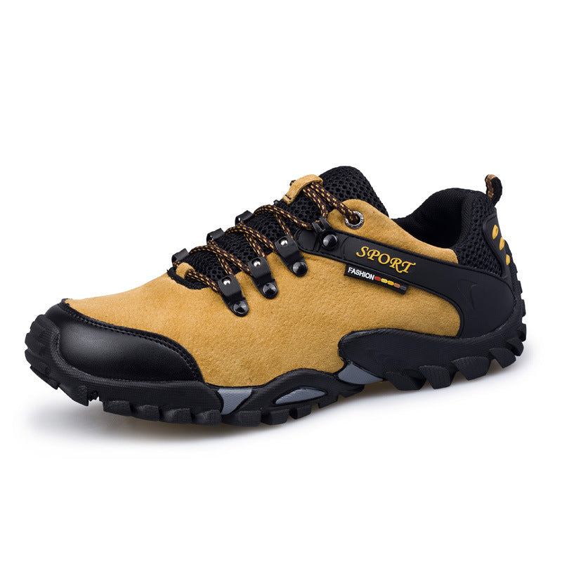 Men Breathable Outdoor Genuine Leather Trekking Shoes